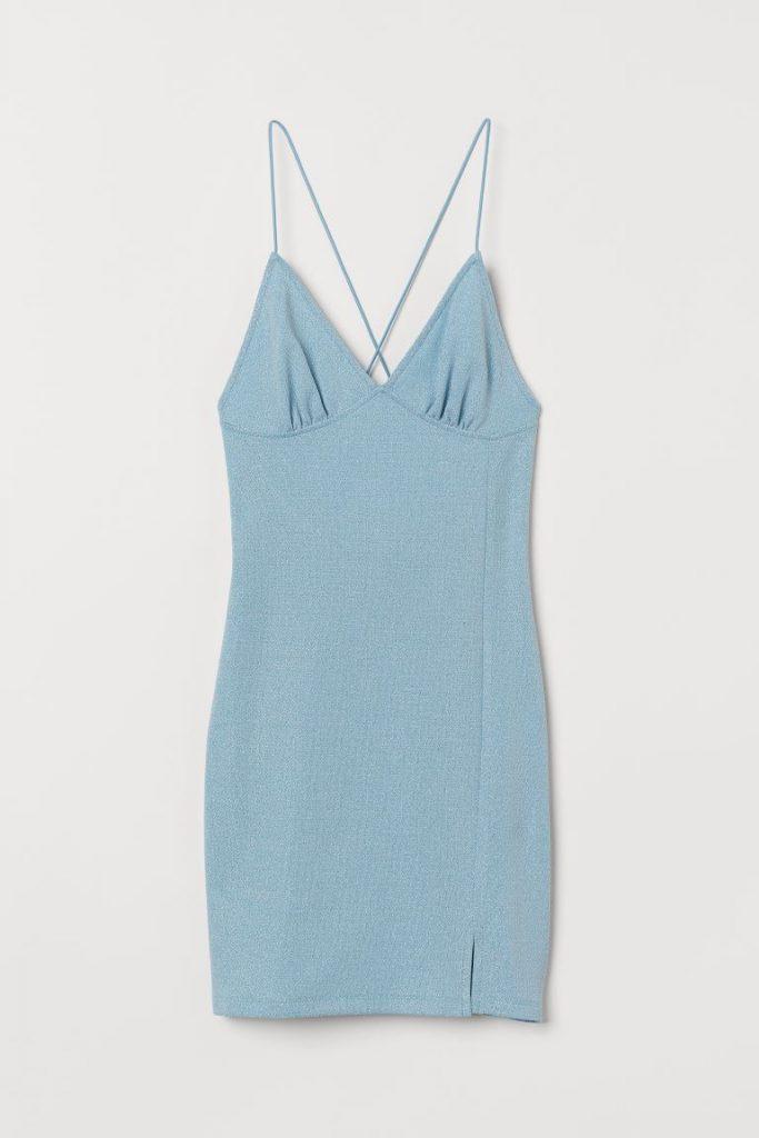 vestido hm azul bodycon
