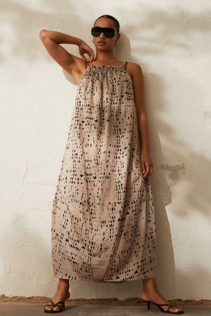 vestido lyocell hm