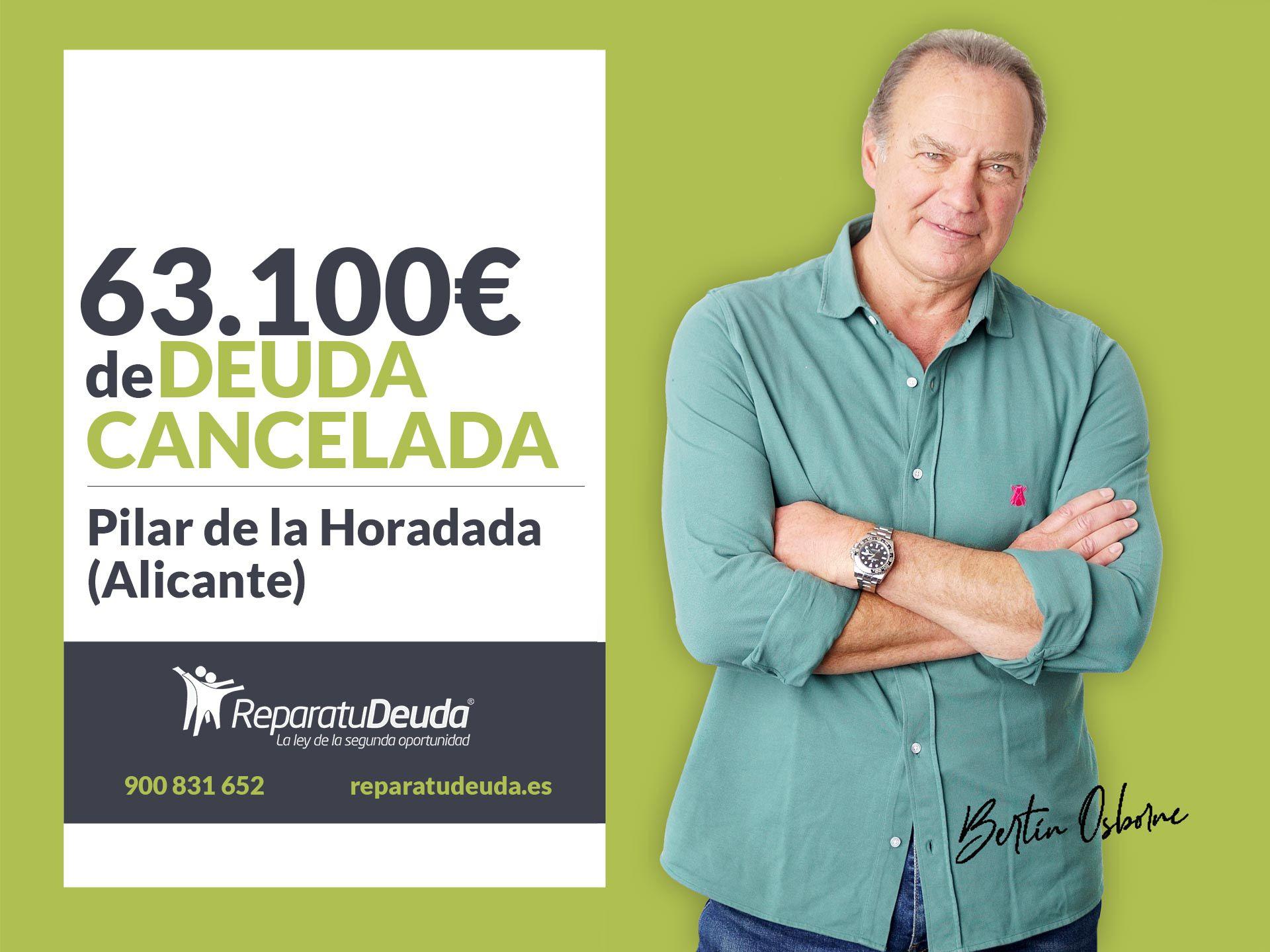 Repara tu Deuda cancela 63.100? en Pilar de la Horadada (Alicante) con la Ley de Segunda Oportunidad