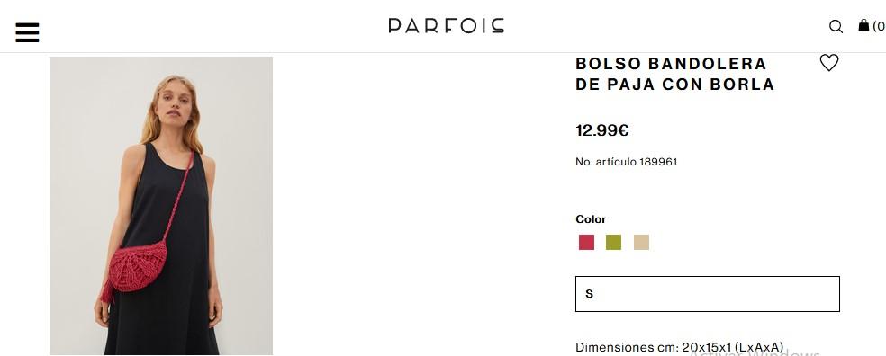 Bolso Bandolera De Paja Con Borla- Parfois