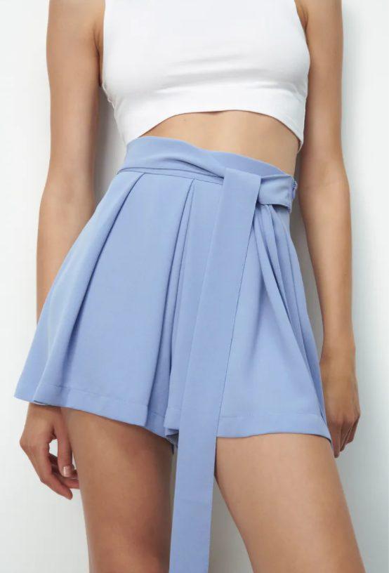 falda lazo zara