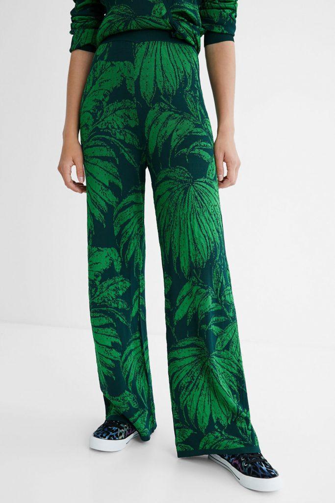 pantalon palmeras desigual