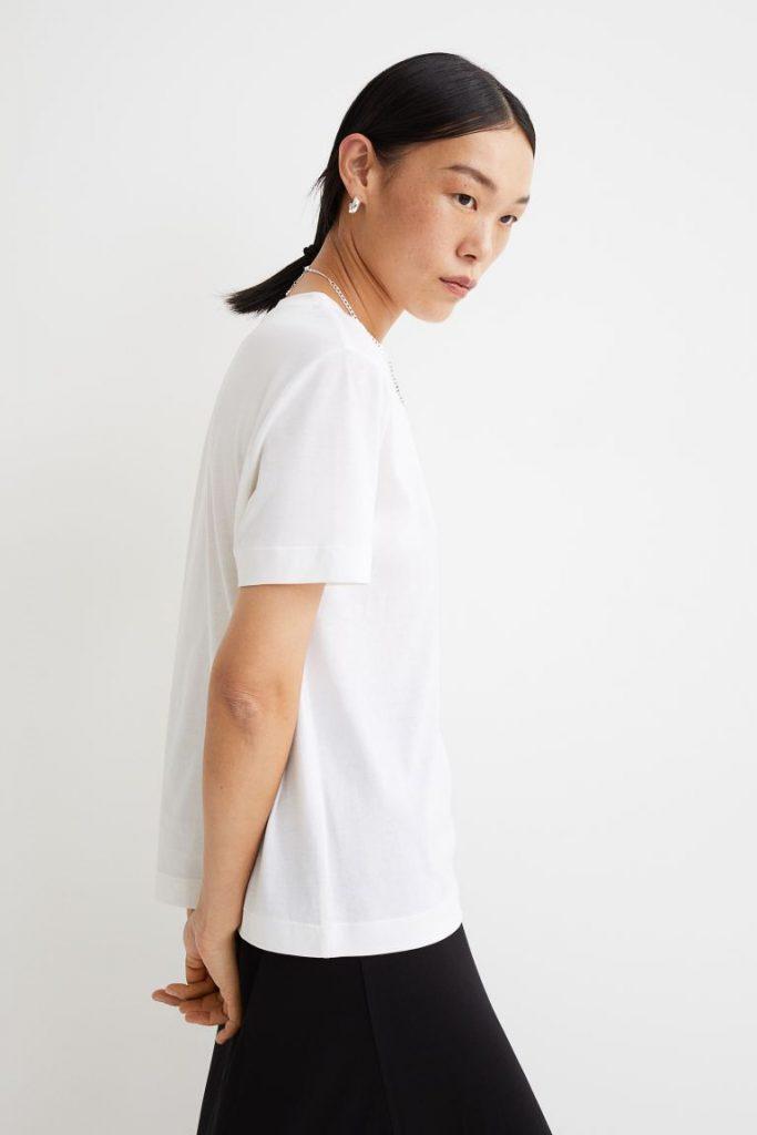 Camiseta en mezcla de seda- H&M