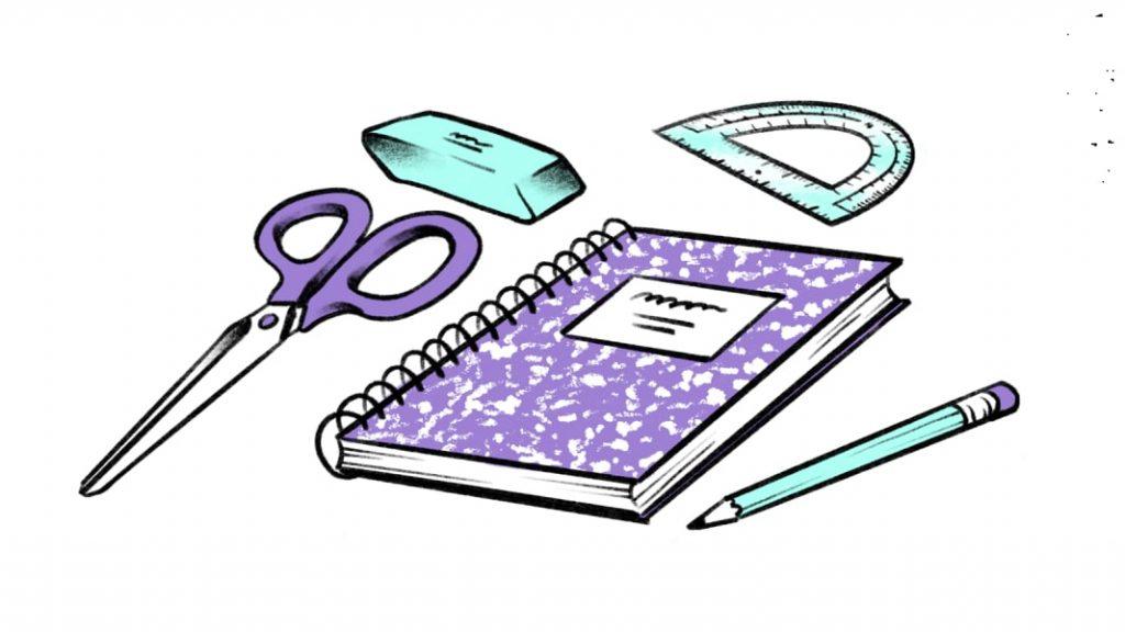 Hacer una lista de los útiles escolares cole