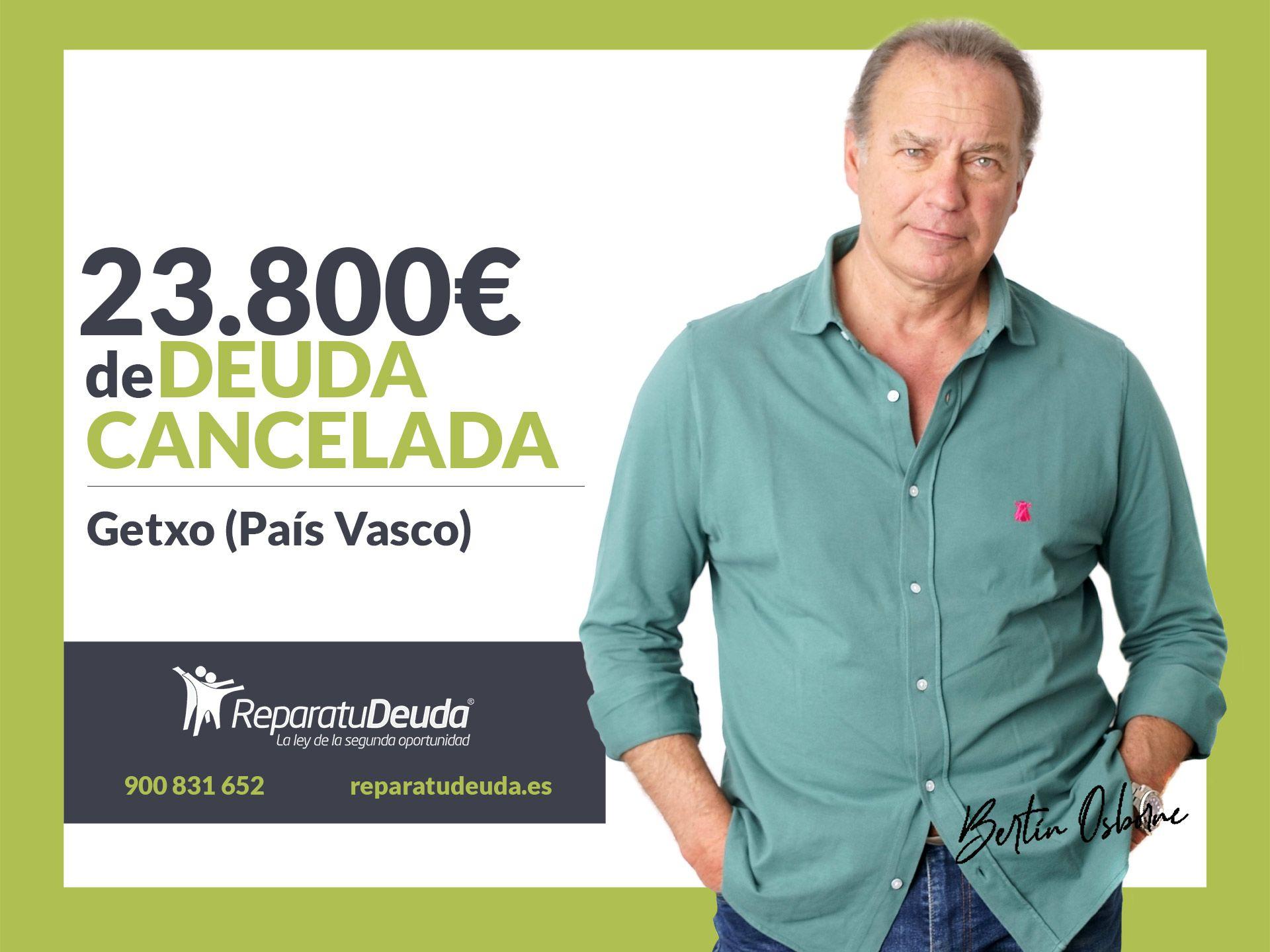Repara tu Deuda abogados cancela 23.800? en Getxo (Bizkaia) con la Ley de Segunda Oportunidad