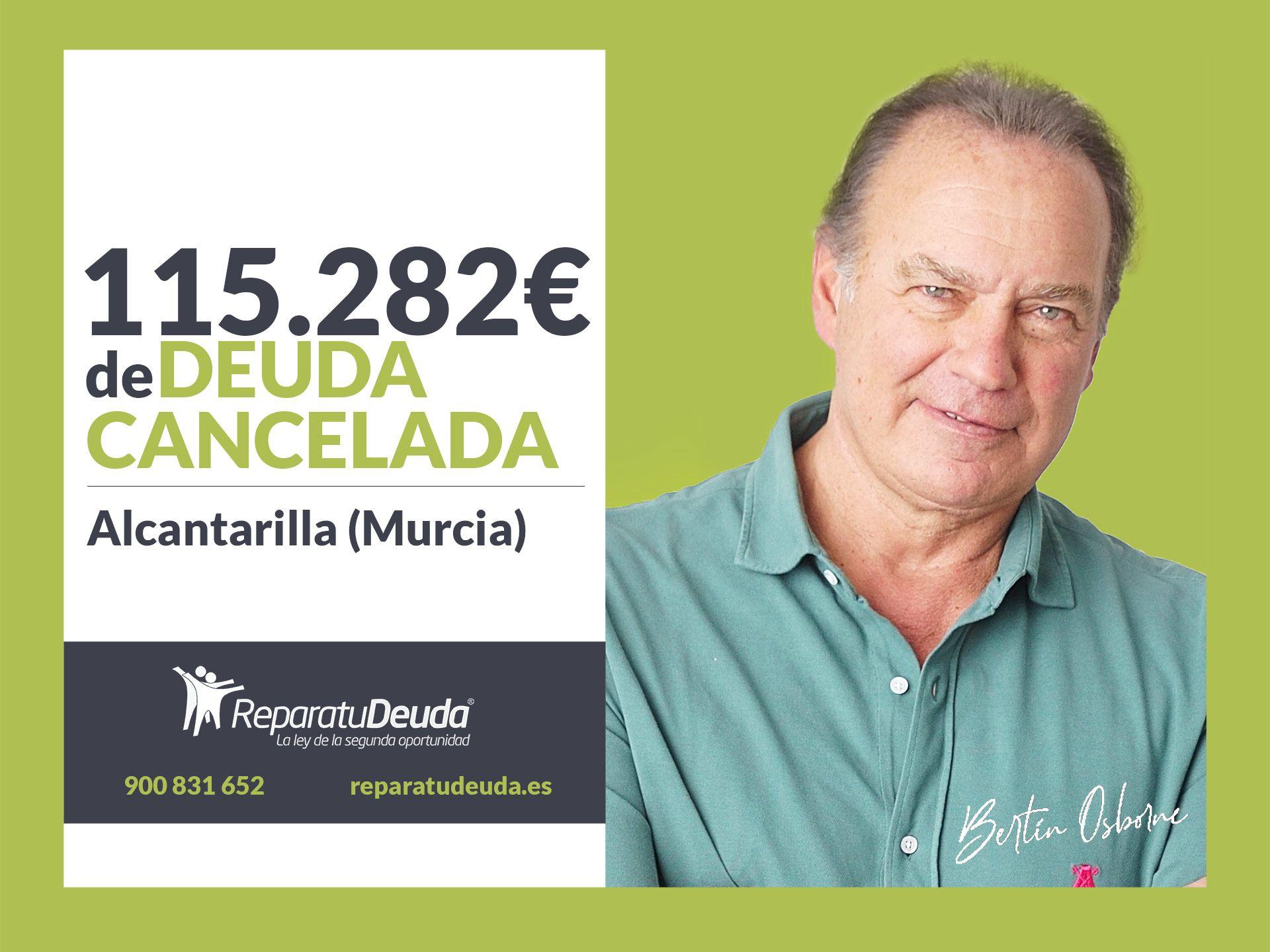 Repara tu Deuda Abogados cancela 115.282? en Alcantarilla (Murcia) con la Ley de la Segunda Oportunidad