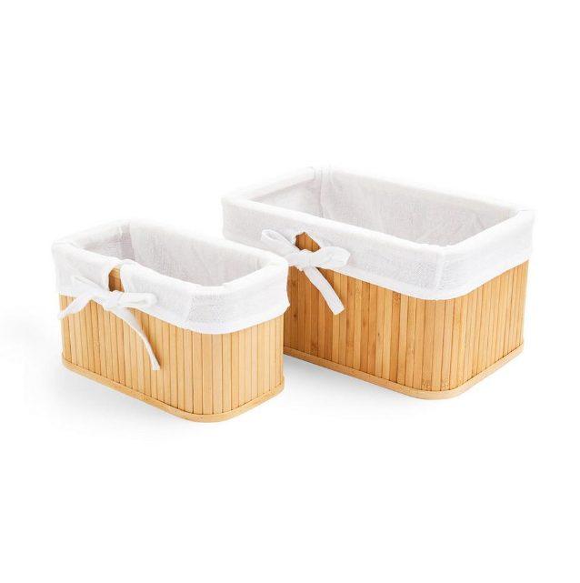 Pack de 2 cestas de bambú Primark