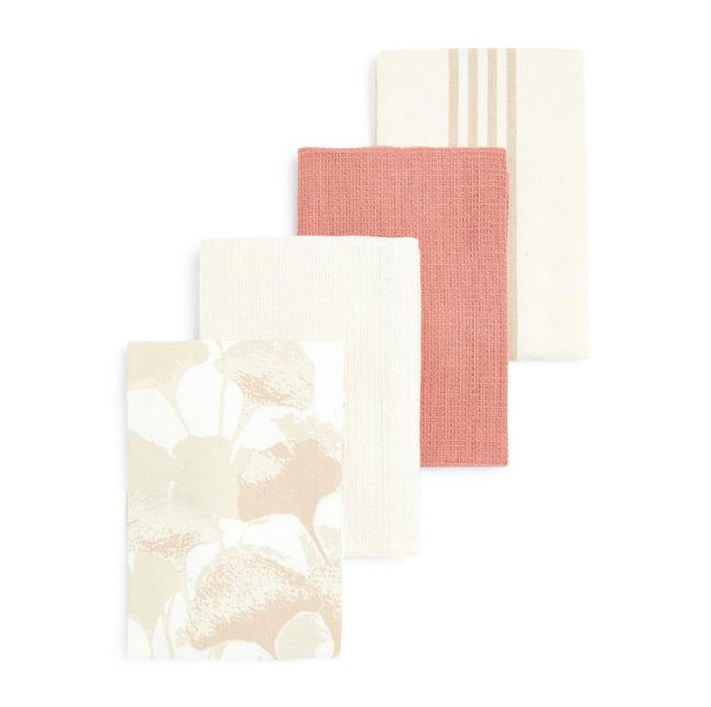 Pack de 4 paños de cocina beige Primark