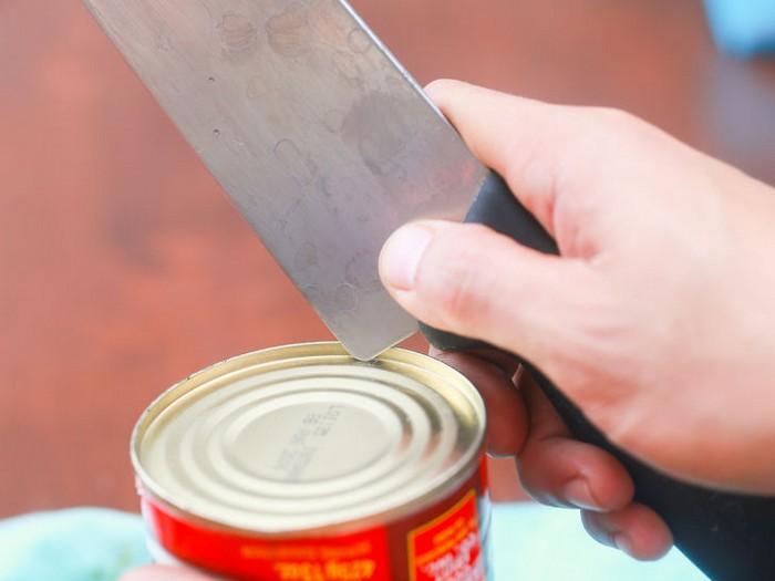 Buscar un cuchillo lata