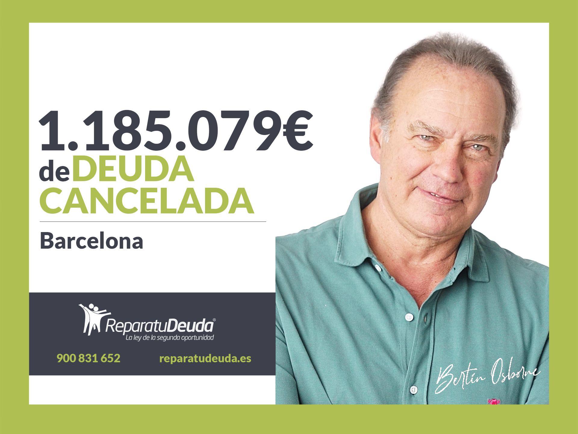 Repara tu Deuda Abogados cancela 1.185.079 ? en Barcelona (Catalunya) con la Ley de la Segunda Oportunidad