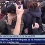 Este es el vídeo de la agresión de Alberto Rodríguez (Podemos) a la Policía